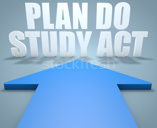 計画 研究 行為 3dのレンダリング 青 矢印 ストックフォト © Mazirama