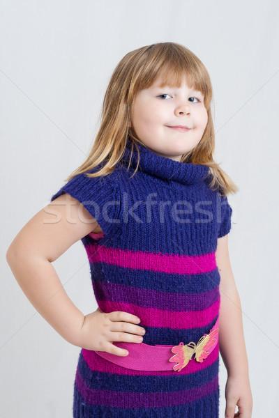 Stok fotoğraf: Küçük · kız · portre · küçük · kız