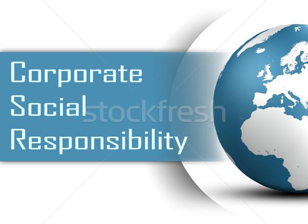 Korporacyjnych społecznej odpowiedzialność świecie biały Internetu Zdjęcia stock © Mazirama
