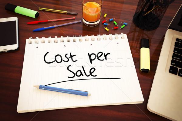 Kosztować sprzedaży tekst notebooka Zdjęcia stock © Mazirama