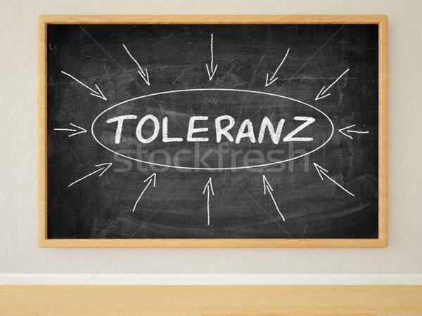 Woord tolerantie 3d render illustratie tekst zwarte Stockfoto © Mazirama