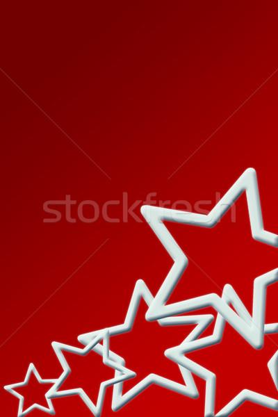 рождество карт Рождества красный звезды Сток-фото © Mazirama