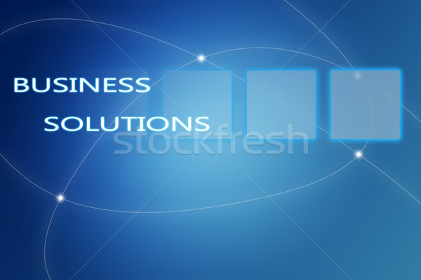Iş çözümler örnek mavi bilgisayar Internet Stok fotoğraf © Mazirama