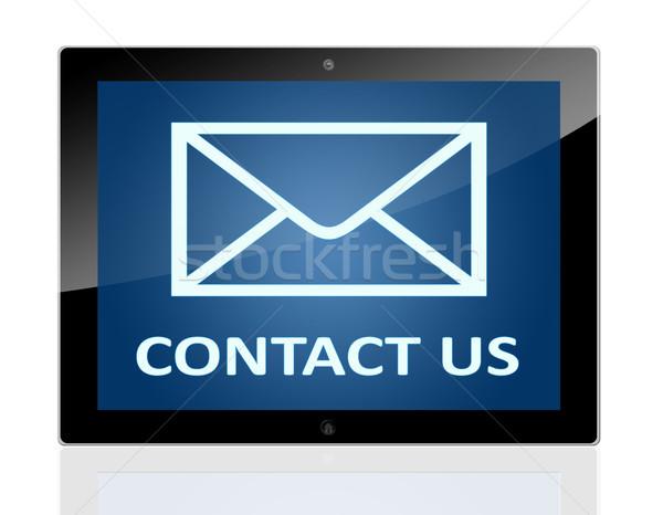 Tablet mail symbool woorden Stockfoto © Mazirama
