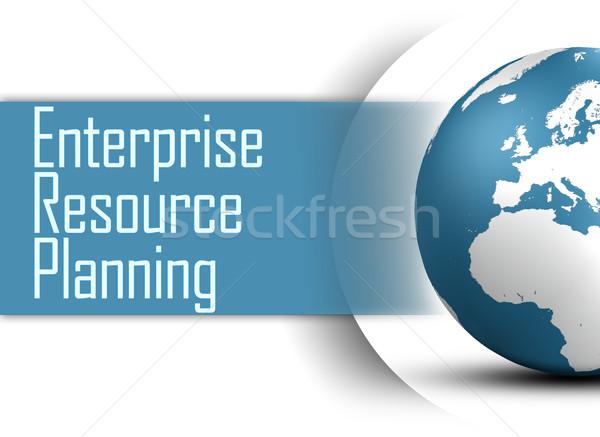 Empresa recurso planejamento globo branco negócio Foto stock © Mazirama