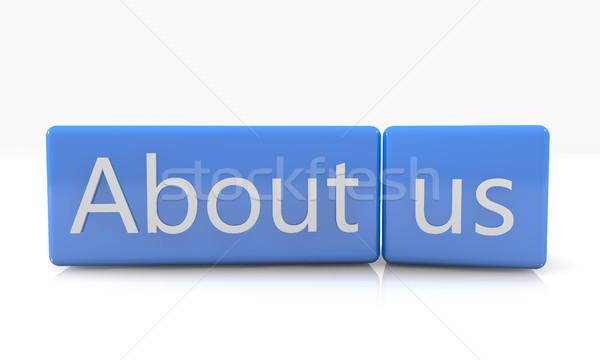 私達について 3dのレンダリング 青 ボックス 白 反射 ストックフォト © Mazirama