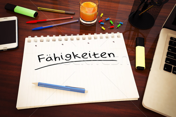 Faehigkeiten text concept Stock photo © Mazirama