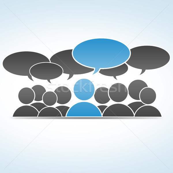 Sosyal medya grup iletişim iş Internet teknoloji Stok fotoğraf © Mazirama