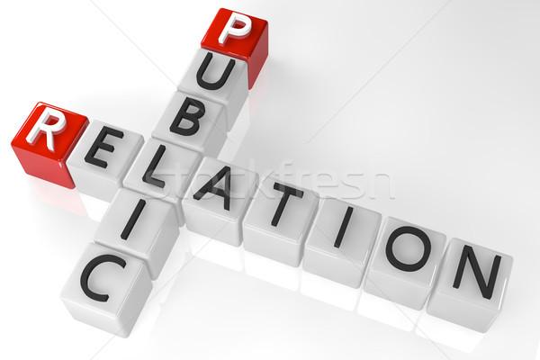 クロスワード 公共 関係 3dのレンダリング ビジネス 赤 ストックフォト © Mazirama