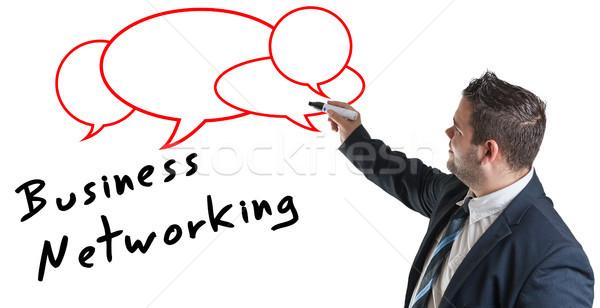 Business network biznesmen piśmie sieci człowiek Zdjęcia stock © Mazirama