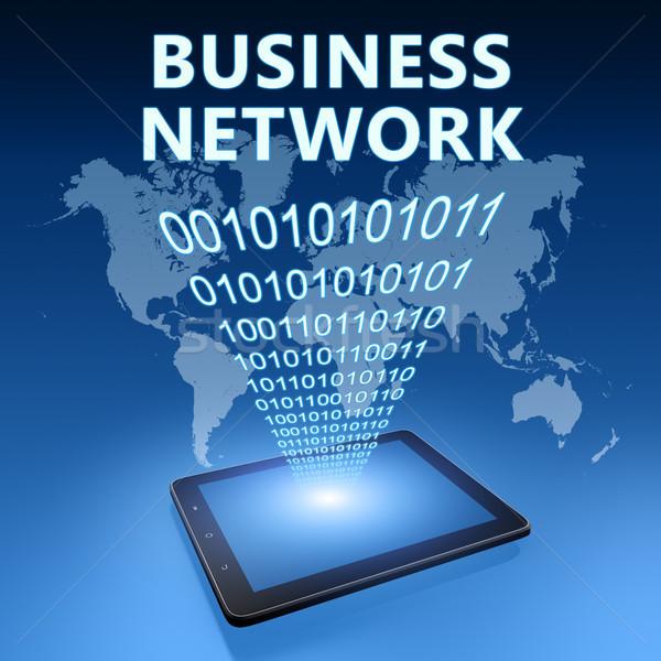 Business network ilustracja niebieski Internetu technologii Zdjęcia stock © Mazirama