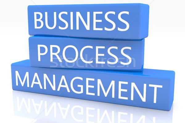 Iş süreç yönetim 3d render mavi kutu Stok fotoğraf © Mazirama