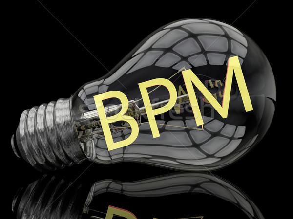 Business processo gestione bpm lampadina nero Foto d'archivio © Mazirama