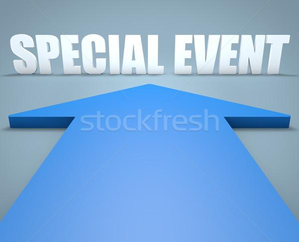 Evento speciale rendering 3d blu arrow punta calendario Foto d'archivio © Mazirama