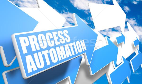 Folyamat automatizálás 3d render kék fehér nyilak Stock fotó © Mazirama