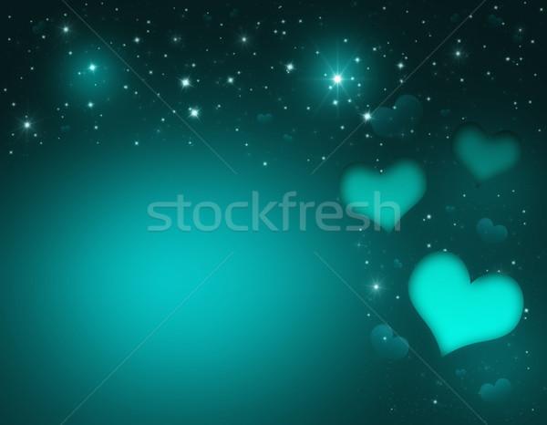 バレンタインデー カード 日 ターコイズ 心 星 ストックフォト © Mazirama