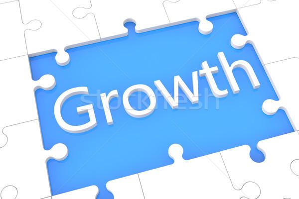 Büyüme bilmece 3d render örnek kelime mavi Stok fotoğraf © Mazirama