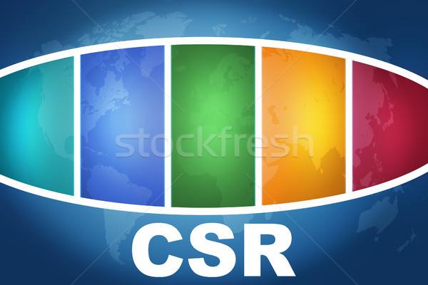 Empresarial social responsabilidad texto ilustración azul Foto stock © Mazirama