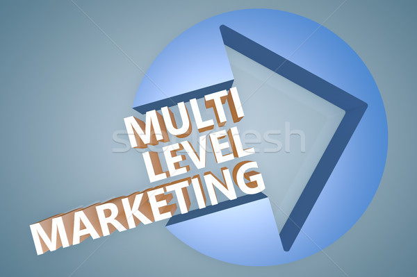 Nivel comercialización texto 3d ilustración flecha Foto stock © Mazirama