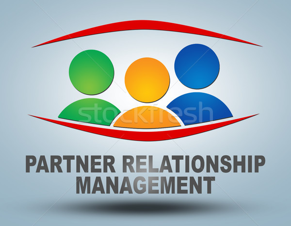 Socio relación gestión texto ilustración gris Foto stock © Mazirama