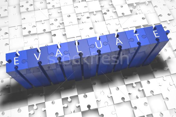 パズル 3dのレンダリング 実例 文字 青 ストックフォト © Mazirama
