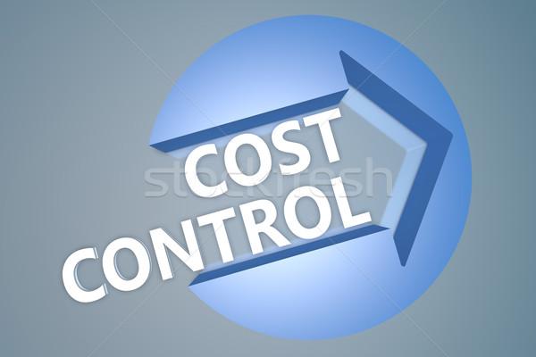 Coût contrôle texte rendu 3d illustration flèche Photo stock © Mazirama