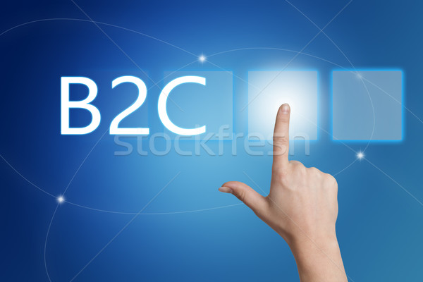 Business consument hand knop interface Stockfoto © Mazirama