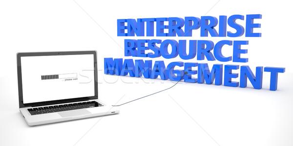 Przedsiębiorstwo zasób zarządzania laptop notebooka komputera Zdjęcia stock © Mazirama