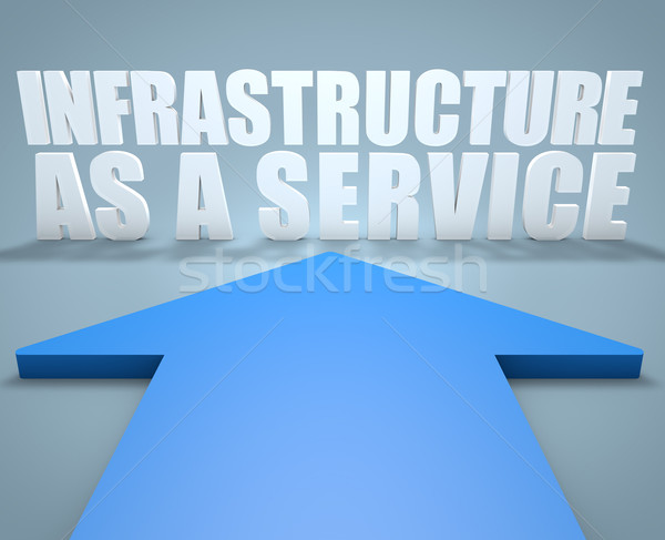 Infrastrutture servizio rendering 3d blu arrow punta Foto d'archivio © Mazirama