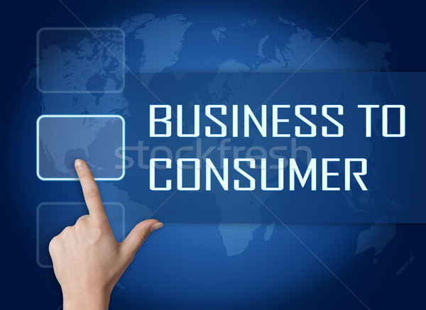 Business consument interface wereldkaart Blauw internet Stockfoto © Mazirama