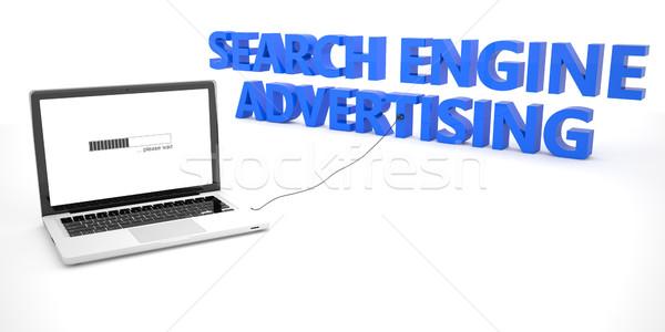 поисковая реклама ноутбука ноутбук компьютер слово Сток-фото © Mazirama