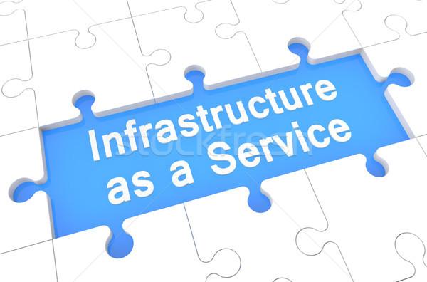 Infrastructure Ouvrir la puzzle rendu 3d illustration mot Photo stock © Mazirama