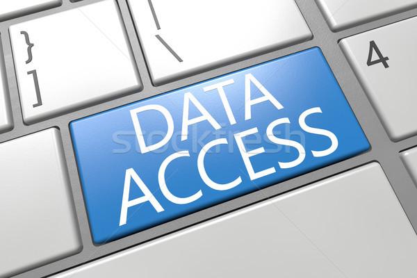 Adat hozzáférés billentyűzet 3d render illusztráció szó Stock fotó © Mazirama