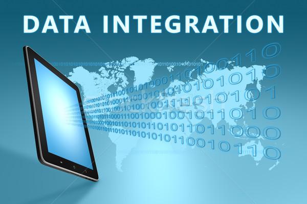 Dados integração ilustração azul computador Foto stock © Mazirama