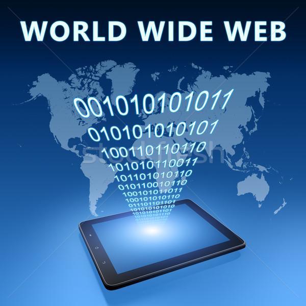 World wide web illustratie Blauw internet technologie Stockfoto © Mazirama