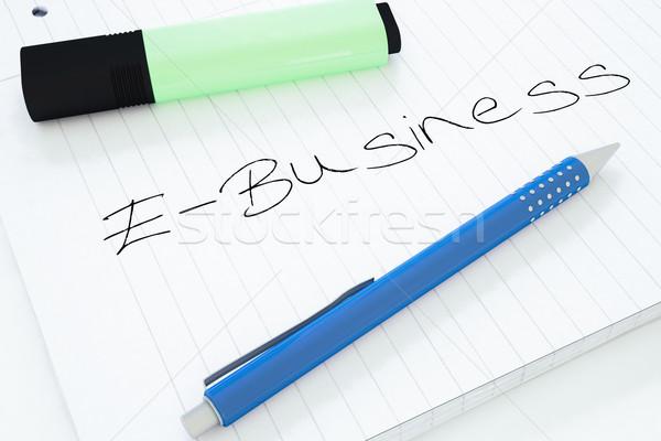 Tekst notebook bureau 3d render illustratie Stockfoto © Mazirama