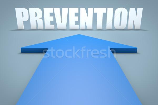 предотвращение 3d визуализации синий стрелка указывая медицинской Сток-фото © Mazirama
