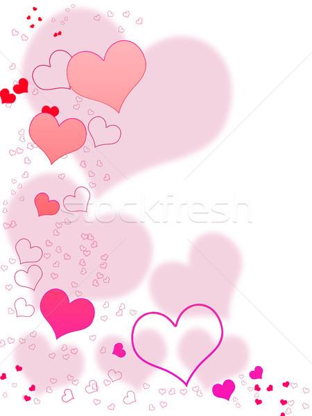 Sevgililer günü kart tasarımlar beyaz pembe kırmızı Stok fotoğraf © Mazirama