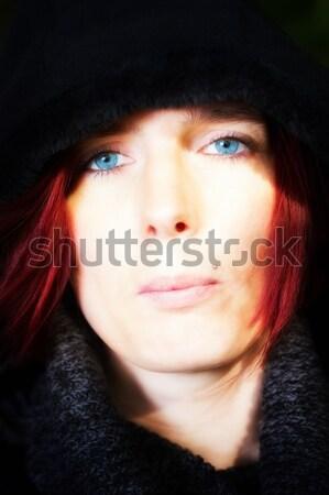Portre güzel kadın kafa Stok fotoğraf © Mazirama