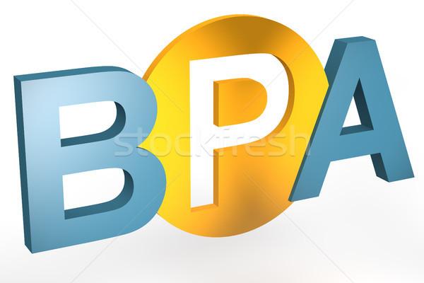 ビジネス プロセス 分析 頭字語 3dのレンダリング 実例 ストックフォト © Mazirama