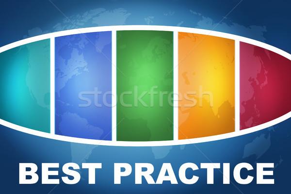 Best praktijk tekst illustratie Blauw kleurrijk Stockfoto © Mazirama