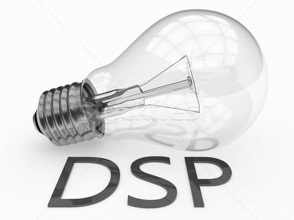 Nachfrage Seite Plattform Glühbirne weiß Text Stock foto © Mazirama