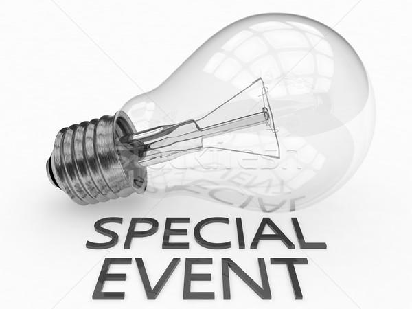 特別イベント 電球 白 文字 3dのレンダリング 実例 ストックフォト © Mazirama