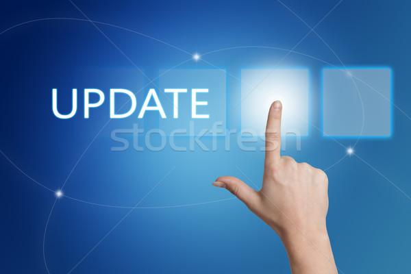 Aktualizacja strony przycisk interfejs niebieski Zdjęcia stock © Mazirama