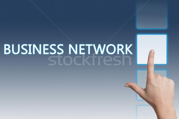 Business network działalności strony przycisk ekran dotykowy Zdjęcia stock © Mazirama