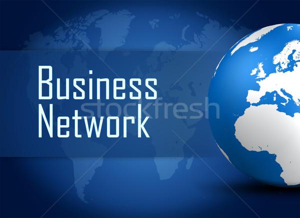 Zdjęcia stock: Business · network · świecie · niebieski · mapie · świata · Internetu · technologii