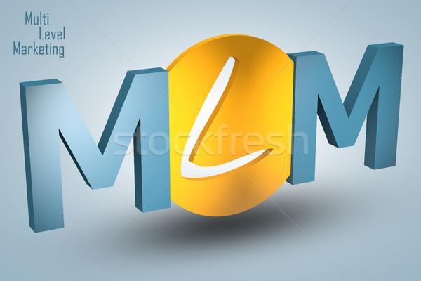 Foto stock: Nível · marketing · acrônimo · 3d · render · ilustração · negócio