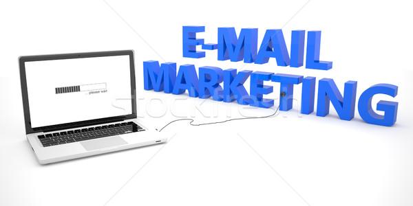 E-mail marketing laptop notebook computer woord Stockfoto © Mazirama