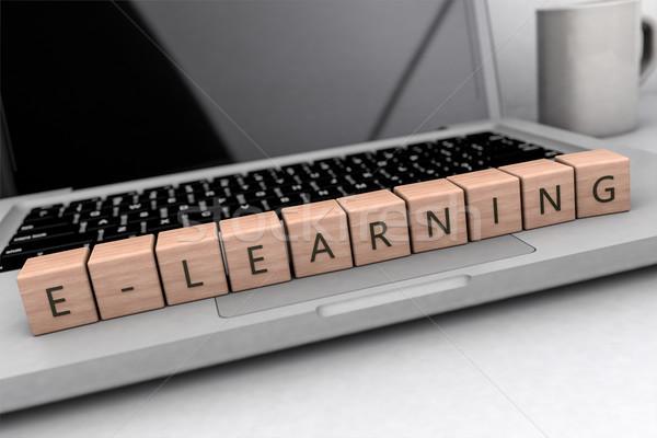 текста письма ноутбук компьютер Сток-фото © Mazirama
