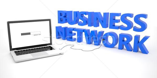 Zdjęcia stock: Business · network · laptop · notebooka · komputera · słowo · biały